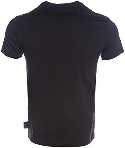 VERSACE JEANS COUTURE Couture Foil Script Logo T-Shirt Large Black