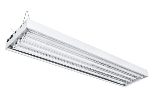 iPower GLT5XXPANL4T4 4-Feet 6400K T5 Grow Light Fixture for Indoor Plants High Output Fluorescent Tubes, 4 Lamps, White
