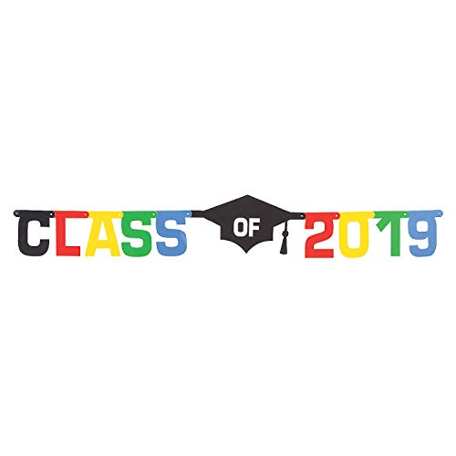 (Fun Express Class of 2019 Graduation Party Hanging Jointed Banner Decoration - 6 Ft)