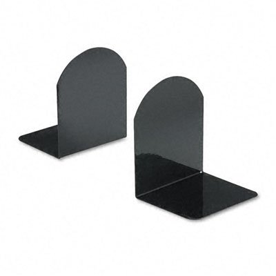 Universal : Bookends with Magnetic Base, 6 x 5 x 7, Metal, Black -:- Sold as ... by Universal