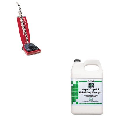 KITEUKSC684FFKLF538022 - Value Kit - Franklin Super Carpet amp;amp; Upholstery Shampoo (FKLF538022) and Commercial Vacuum Cleaner, 16quot; (EUKSC684F) by Franklin (Image #1)