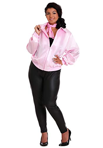 Women's Pink Ladies Jacket Plus Size Officially