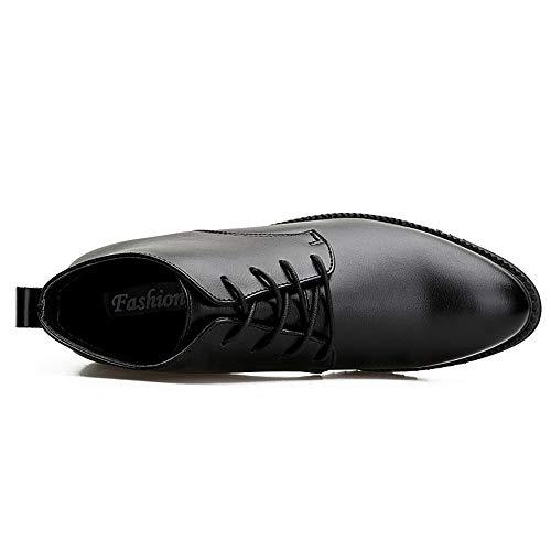 Nuovo Medio Formali Mantieni Stile Casual Scarpe Oxford Calde Business Cricket Nero da Alto da Scarpe Inverno Uomo wnPq0xfRXA