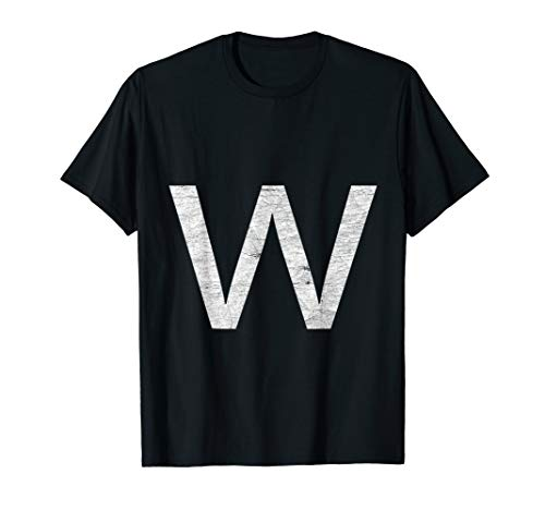 Halloween Costumes Letter W (Letter W lower case Fun Group Halloween Matching Costume tee)