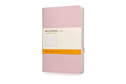 Moleskine Cahier Journal (Set of 3), Pocket, Ruled, Persian Lilac, Frangipane Yellow, Peach Blossom Pink, Soft Cover (3.5 x ()