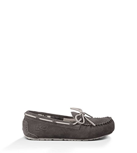 UGG Kids Unisex Ryder Jungle  Charcoal Suede Slipper 5 Big K