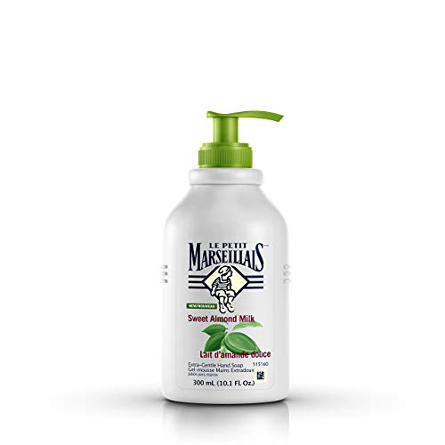 Le Petit Marseillais Extra Gentle Liquid Hand Soap with Sweet Almond Milk, French Moisturizing Hand Soap pH Neutral for Skin, 10.1 fl. oz