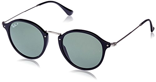 Ray-Ban Men's Acetate Man Polarized Round Sunglasses, Black, 49 - Clubmaster Round Ray Ban