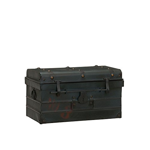 Small Storage Chest (Household Essentials Steamer Classic Storage Trunk, Blue, Small)