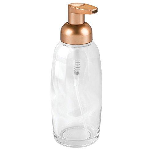 InterDesign Ariana Glass Foaming Soap Dispenser Pump for ...
