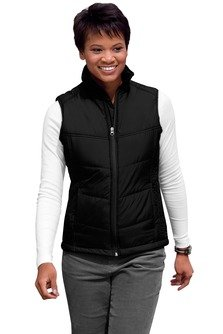 Port Authority Women's Puffy Vest - Black/Black L709 XL