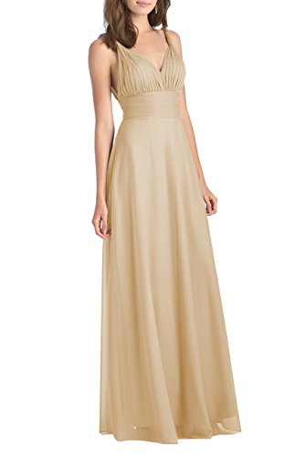 YORFORMALS Women's Halter Transformer/Wrap Infinity Chiffon Bridesmaids Dress Long Formal Gown Size 10 Champagne