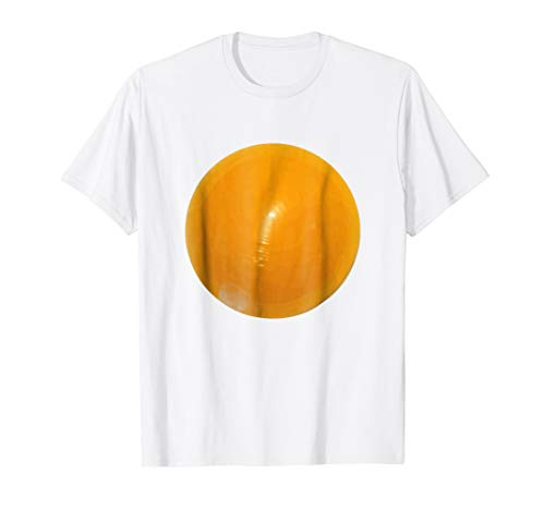 Mens Fried Egg Easy Funny Halloween Costume T-Shirt Kids Adult Large White