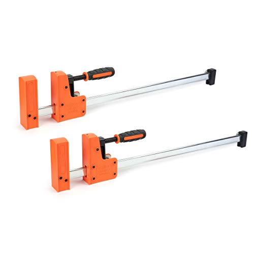 Jorgensen Cabinet Master 24-inch 90° Parallel Jaw Bar Clamp 2-Pack 10 Parallel Jaw Grip