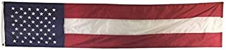 """product image for Gettysburg Flag Works 20"""" x8'Cotton 50 Star Patriotic Pulldown, Fifty Printed Stars and 3 Sewn Stripes, Decorative Bunting, Made in USA"""