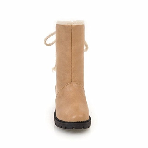 invierno transversales tamaño otoño botas las tiras ronda de y Apricot impermeables El el femenino qtHxwAZq