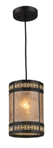 Elk 70066-1 Mica Filigree 2-Light Pendant, 9-Inch, Tiffany Bronze