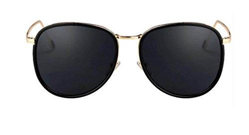 Retro Sunglasses Lightweight Femmes Noir Cadre Multicolor Lentille Surdimensionné Lunettes De Soleil Cadeau Danniversaire B