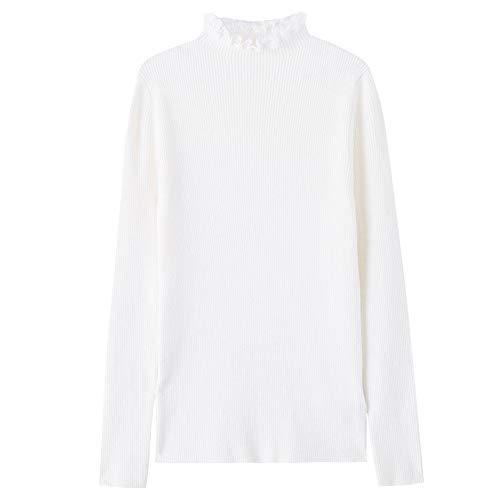 Shirtautumnwinterslimlong Shirtautumnwinterslimlong Lapknitted EKFHOS Sweater Sleeveinner Collarbottoming High High Sweaterfemaleheadsemi wvCqxOT