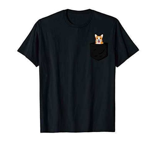Corgi Dog in Pocket Christmas Tshirt
