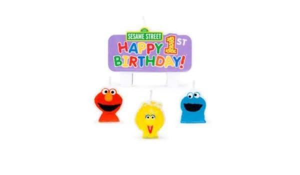 Barrio Sésamo de primer cumpleaños para velas - juego de 4 ...