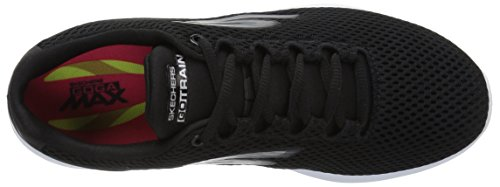 Train Skechers Black White Hype Negro Go Mujer para Zapatillas 55Oy1gSwqr