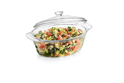 Libbey Baker's Premium Glass Casserole Dish with Cover, ()