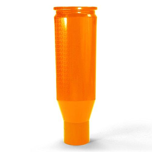 (50 Caliber CNC Machined Bullet Racing Shift Knob Solid Billet Aluminum Orange with Logo fits Polaris RZR Models [5348E1])