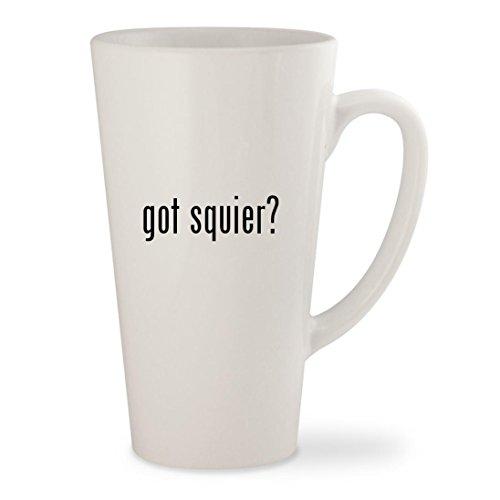 got squier? - White 17oz Ceramic Latte Mug - 60s Telecaster Custom