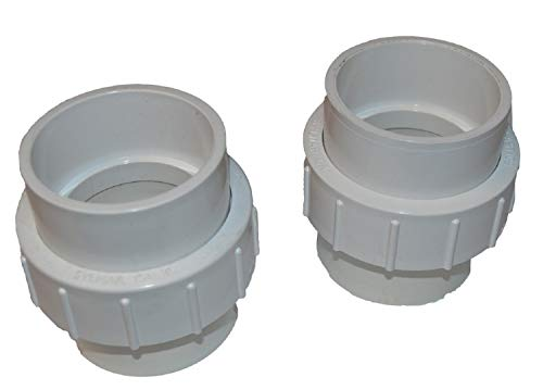 - Hayward SMX300055073 2-Inch Connectors Replacement for Hayward Sumit Pool pump two tail pieces, two nuts, and two O-rings, Grey, Set of 2
