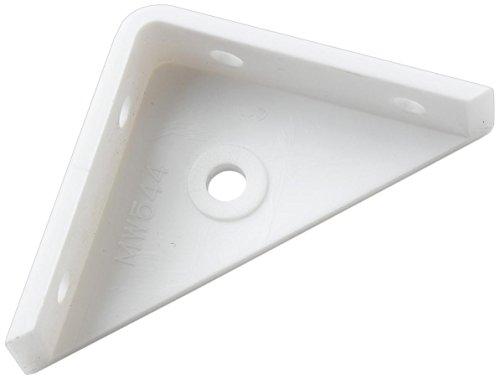 Bulk Hardware BH02471 White Plastic Corner Cupboard Cabinet Bracket Brace 50 x 50mm (2 inch x 2 inch) - Pack of 8