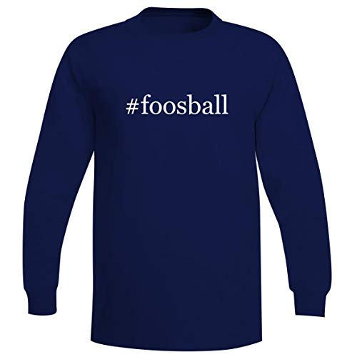 (The Town Butler #Foosball - A Soft & Comfortable Hashtag Men's Long Sleeve T-Shirt, Blue, Large)