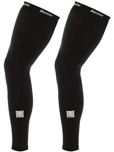 (Santini Black Totum Pair Of Cycling Leg Warmers (Xs/S, Black))