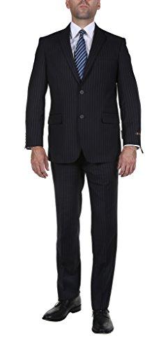 2 Piece Pinstripe Suit - 9