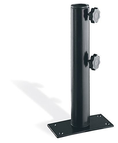 Umbrella Table Clamp (Oxford Garden Market Umbrella Table Clamp with Black Powder Coated Aluminum)