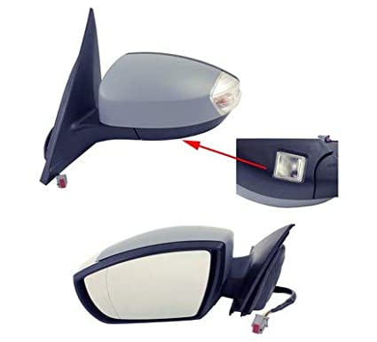 electric, heated, puddle lamp Left Passenger Side Wing Mirror