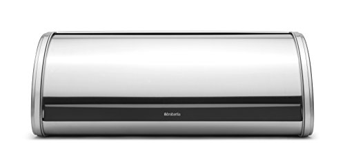 - Brabantia Roll Top Bread Bin Matte Stainless Steel
