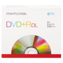 - Dual-Layer Dvd+R Discs, 8.5Gb, 5/Pack
