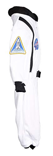 Aeromax Jr. Astronaut Suit with NASA patches and diaper snaps, WHITE, Size 6/12 -