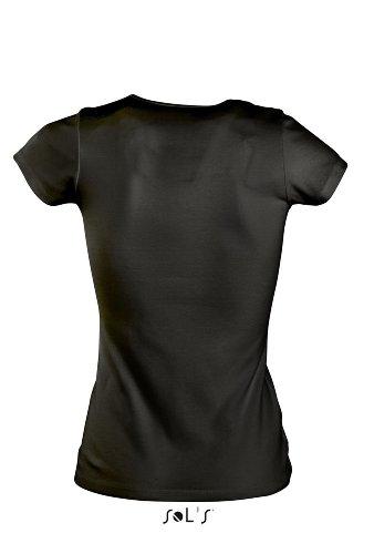 SOL´S Women T-Shirt Moody, Größe:L, Farbe:Deep Black