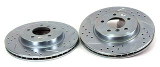 BAER 34211-020 Sport Rotors Slotted Drilled Zinc Plated Front Brake Rotor Set - Pair