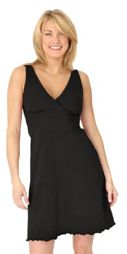 Sleepy Organic Dress (Majamas The Organic Sleepy Dress - Black - Large)