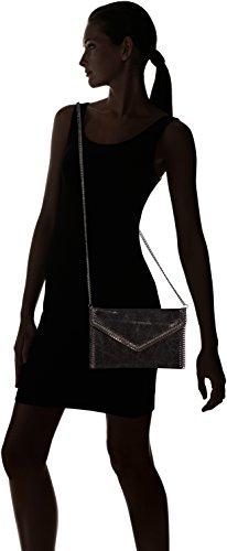 Chicca Borse 10004, Pochette da giorno Donna, Nero, 25 cm