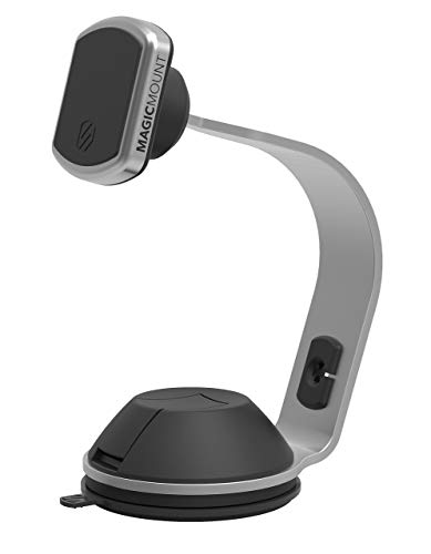 - SCOSCHE MPOHM MagicMount Pro Universal Magnetic Phone/Tablet/Apple Watch Mount with Soft Touch Base for The Home or Office in Silver