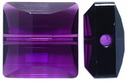 SWAROVSKI ELEMENTS 2-Pack Stairway Beads, Transparent Finish, 14mm, Amethyst 14 Mm Stairway Bead