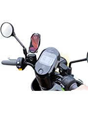"""Bone Motorcycle Phone Holder with Bike Tie 4, Motorcycle Phone Mount for Rear View Mirror, Motorcycle or Bike Accessories for iPhone 13 12 11 Pro Max XS Samsung Galaxy S20 S10 S9 A71 A51, Fits 4.7"""" - 7.2"""" Phones (Black)"""