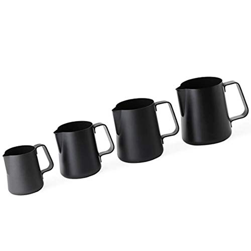 Ilsa Non Stick Milk Frothing Pitcher Professional Latte Art Milk Steaming Jug Stainless Steel, Black - 800ml / 27oz by Ilsa (Image #4)