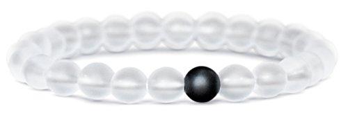 Beaded Bracelets Men Semi Precious Frosted