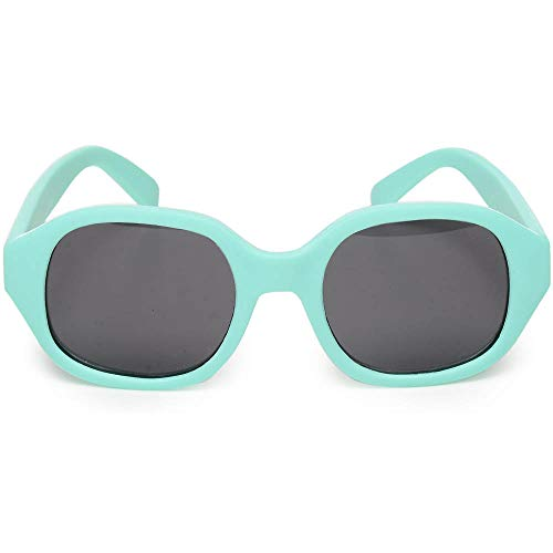 Baby and Toddler Sunglasses with Strap and Felt Case, UV 400 - Mint]()