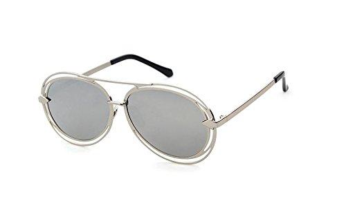 GCR Sunglasses Polarized light Shade glasses Lunettes de soleil rétro structure métallique creuse , c2